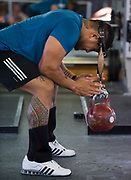All Blacks prop Ofa Tu'ungafasi during the All Blacks gym session at Les Mills, Wellington, in preparation for the 2nd test match between the All Blacks and the British & Irish Lions at Westpac Stadium, Wellington.    26   June   2017    New Zealand Herald photograph by Brett Phibbs