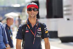 23.07.2015, Hungaroring, Budapest, HUN, FIA, Formel 1, Grand Prix von Ungarn, Vorberichte, im Bild Daniel Ricciardo (Infiniti Red Bull Racing/Renault) // during the preperation of the Hungarian Formula One Grand Prix at the Hungaroring in Budapest, Hungary on 2015/07/23. EXPA Pictures © 2015, PhotoCredit: EXPA/ Eibner-Pressefoto/ Bermel<br /> <br /> *****ATTENTION - OUT of GER*****
