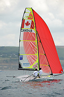 Gordon Cook and Hunter Lowden (CAN), Sailing Olympic Test Event, 49er men's skiff Class, Weymouth