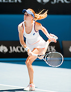 Angnieszka Radwanska of Poland took on defending Australian Open champion, Victoria Azarenka of Belarus in Day 10 of the Melbourne tournament on Rod Laver Arena's center court. Radwanska triumphed over Azarenka 6-1, 5-7, 6-0 leading her into the semifinals. Agnieszka Radwanska in play at the 2013 Australian Open - a Grand Slam Tournament - is the opening event of the tennis calendar annually. The Open is held each January in Melbourne, Australia.