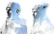 Double exposure portraits of Anna Gasser and Maggie Voisin during 2020 X Games Aspen in Aspen, CO. ©Brett Wilhelm/ESPN