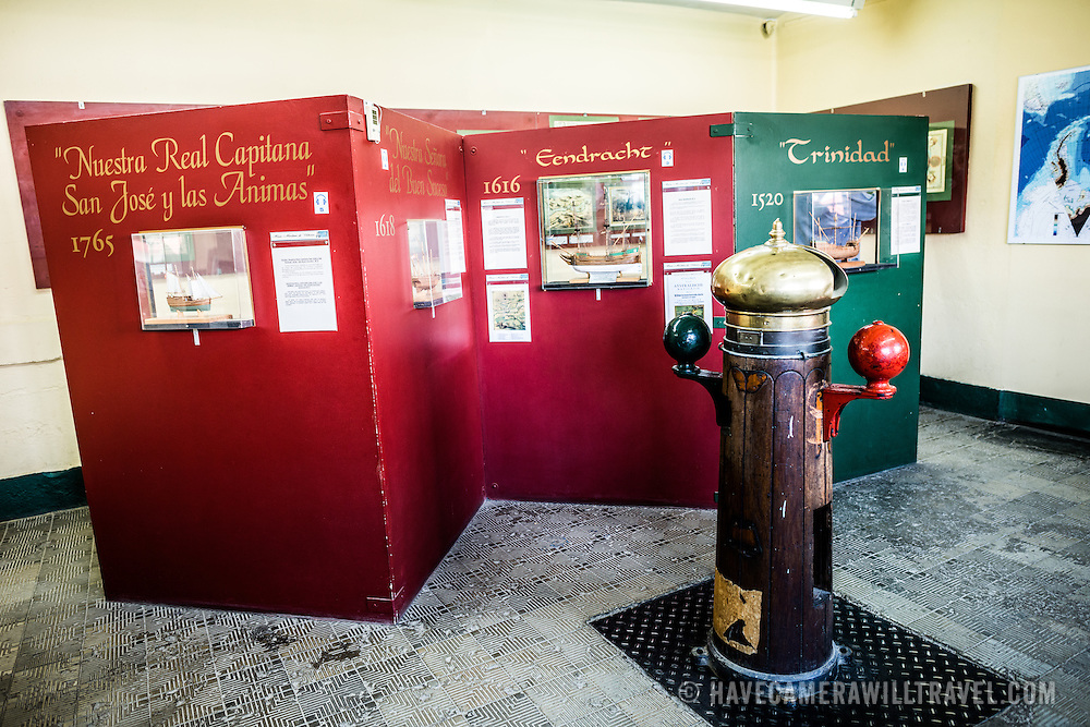 An exhibit at the Maritime Museum of Ushuaia.
