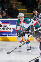 KELOWNA, CANADA - FEBRUARY 10: Konrad Belcourt #5 of the Kelowna Rockets skates against the Vancouver Giants on February 10, 2017 at Prospera Place in Kelowna, British Columbia, Canada.  (Photo by Marissa Baecker/Shoot the Breeze)  *** Local Caption ***