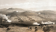Crimean War  1853-1856: 'Charge of the light cavalry brigade, 25th Oct. 1854, under Major General the Earl of Cardigan'.  The disastrous British charge of the Russian guns commemorated by Lord Tennyson  in his poem.