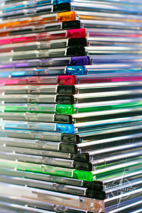 Multi colored CD Cases, Slim Jewel Cases