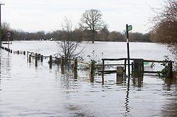 ©Licensed to London News Pictures 22/12/2019. <br /> Yalding ,UK. Lees road and surrounding fields. The River Medway and River Beult have bursts their banks causing severe Flooding in Yalding village,Kent. Photo credit: Grant Falvey/LNP