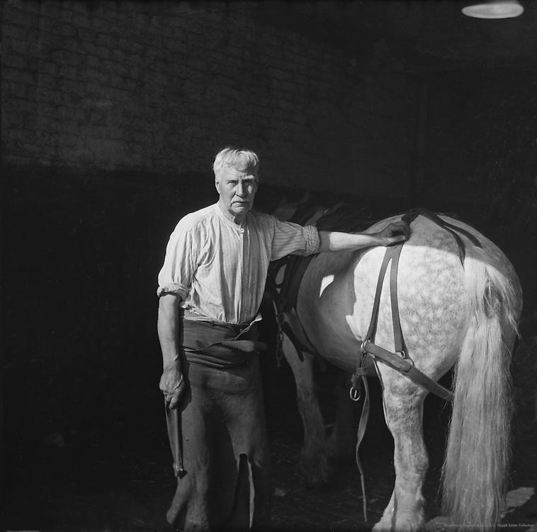 A Smithy at the Elephant & Castle, England, c. 1945