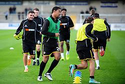 Bristol Rovers warm up - Photo mandatory by-line: Neil Brookman/JMP - Mobile: 07966 386802 - 22/11/2014 - Sport - Football - Chester - Deva Stadium - Chester v Bristol Rovers - Vanarama Football Conference