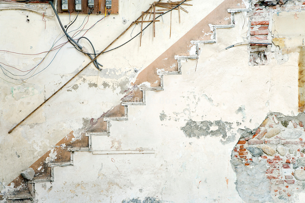 marks of a broken down stair