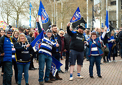 Supporters enjoy the pre-match atmosphere - Mandatory byline: Patrick Khachfe/JMP - 07966 386802 - 06/04/2019 - RUGBY UNION - Twickenham Stadium - London, England - Bath Rugby v Bristol Rugby - The Clash - Gallagher Premiership Rugby