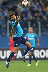 September 28, 2017 - Saint Petersburg, Russia - Emanuel Mammana of FC Zenit Saint Petersburg vie for the ball during the UEFA Europa League Group L football match between FC Zenit Saint Petersburg and FC Real Sociedad at Saint Petersburg Stadium on September 28, 2017 in St.Petersburg, Russia. (Credit Image: © Igor Russak/NurPhoto via ZUMA Press)