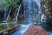 Hanging Lake is a popular tourist destination 7 miles east of Glenwood Springs. It is situated in the White River National Forest.
