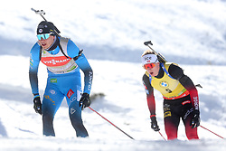 Emilien Jacquelin of France competes during the IBU World Championships Biathlon Men Pursuit competiton, on February 14, 2021 in Pokljuka, Slovenia. Photo by Vid Ponikvar / Sportida