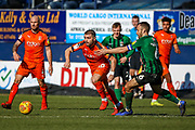 Luton Town forward Elliot Lee held back by Coventry City midfielder Liam Kelly (6) during the EFL Sky Bet League 1 match between Luton Town and Coventry City at Kenilworth Road, Luton, England on 24 February 2019.