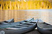 Canoes in Glacier National Park