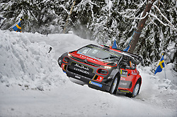 February 15, 2018 - Suede - Craig Breen (IRL) Ð Scott Martin (GBR) - Citroen DS3 WRC (Credit Image: © Panoramic via ZUMA Press)