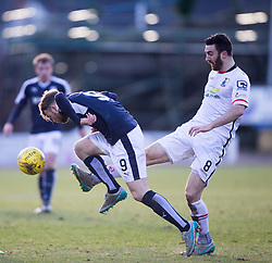 Dundee's Rory Loy and Inverness Caledonian Thistle's Ross Draper. <br /> Dundee 1 v 1 Inverness Caledonian Thistle, SPFL Ladbrokes Premiership game played at Dens Park, 27/2/2016.