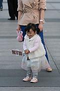 Child playing in the Bund Shanghai