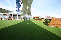 Celebrity Silhouette. Celebrity cruises' new ship launched in Hamburg 21st July 2011..Interior feature photos..Lawn Club
