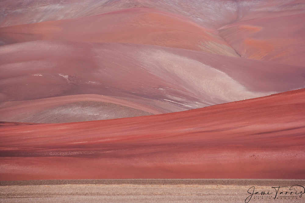 Mineral rich hills in the Chilean Andes east of Copiapo,Andes,Chile,South America