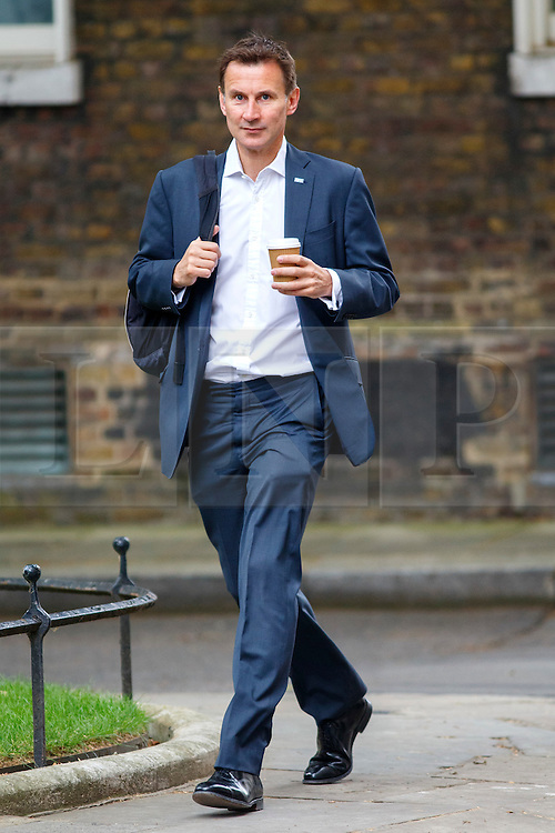 © Licensed to London News Pictures. 14/07/2015. London, UK. Health Secretary, Jeremy Hunt attending to a cabinet meeting in Downing Street on Tuesday, July 14, 2015. Photo credit: Tolga Akmen/LNP