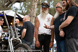 David Wasserman at Warren Lane's True Grit Antique Gathering bike show at the Broken Spoke Saloon in Ormond Beach during Daytona Beach Bike Week, FL. USA. Sunday, March 10, 2019. Photography ©2019 Michael Lichter.