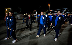 U19 players going to watch the 8th day qualification game of 2010 FIFA WORLD CUP SOUTH AFRICA in Group 3 between Slovenia and Czech Republic at Stadion Ljudski vrt, on March 28, 2008, in Maribor, Slovenia. Slovenia vs Czech Republic 0 : 0. (Photo by Vid Ponikvar / Sportida)