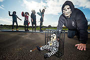 26/10/2019 Halloween mad The Geoghegans from Rosscahill, Parents Mike and Sharon with kids  Michael  Ella and Ava . Photo:Andrew Downes, xposure.ie