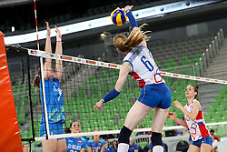 Dominika Drobnakova of Slovakia during volleyball match between Slovenia and Slovakia in CEV European League Women on June 22, 2016 in Stozice, Ljubljana, Slovenia. Photo by Morgan Kristan / Sportida