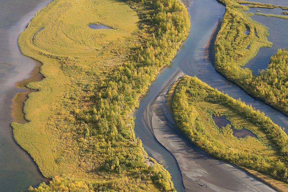 View over Laitaure delta, Sarek National Park, Laponia World Heritage Site, Sweden