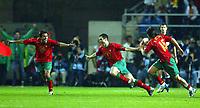 Fotball<br /> Treningskamp - Privatlandskamp<br /> 17.02.2004<br /> Portugal v England<br /> Foto: Digitalsport<br /> NORWAY ONLY<br /> <br /> Pauleta (Centre) celebrates his equalizer