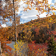 Hidden lake during fall foliage in the Delaware Water Gap National Recreation Area