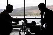 Nova Lima_MG, Brasil...Homens jogando Xadrez...Men playing chess...Foto: NIDIN SANCHES / NITRO