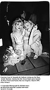 Courtney Love & Amanda de Cadenet sitting on the floor inside Mortons  during the the  Oscar Night party hosted by Steve Tisch and Vanity Fair. Los Angeles. March 1995. 95544/5<br /> © Copyright Photograph by Dafydd Jones<br /> 66 Stockwell Park Rd. London SW9 0DA<br /> Tel 0171 733 0108