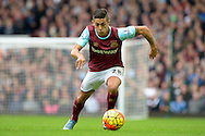 Manuel Lanzini of West Ham United in action. Barclays Premier League, West Ham Utd v Chelsea at The Boleyn Ground, Upton Park in London on Saturday 24th October 2015.<br /> pic by John Patrick Fletcher, Andrew Orchard sports photography.