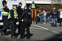 Football - 2019 / 2020 Sky Bet (EFL) Championship - Swansea City vs. Reading<br /> <br /> Mounted police outside the ground, at the Liberty Stadium.<br /> <br /> COLORSPORT/WINSTON BYNORTH