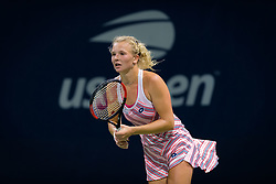 August 30, 2018 - Katerina Siniakova of the Czech Republic at the net after their second round match at the 2018 US Open Grand Slam tennis tournament. New York, USA. August 30th 2018. (Credit Image: © AFP7 via ZUMA Wire)