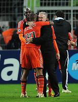 Fotball<br /> Tyskland<br /> 06.12.2011<br /> Foto: Witters/Digitalsport<br /> NORWAY ONLY<br /> <br /> v.l. Alou Diarra, Andrew Ayew, Trainer Didier Deschamps (Marseille)<br /> Champions League, Gruppenphase, Borussia Dortmund - Olympique Marseille 2:3