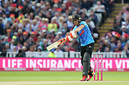 Sussex's Laurie Evans during the final of the Vitality T20 Finals Day 2018 match between Worcestershire rapids and Sussex Sharks at Edgbaston, Birmingham, United Kingdom on 15 September 2018.