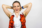 Kate Smurthwaite, evening compare. <br /> The Peoples Assembly  presents: Stand Up Against Austerity. Live at the Hammersmith Apollo. London.