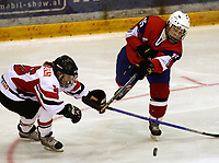 Ishockey<br /> VM for kvinner<br /> Graz Østerrike <br /> Norge<br /> Foto: Gepa/Digitalsport<br /> NORWAY ONLY<br /> <br /> 09.04.2009<br /> <br /> IIHF Damen Eishockey Weltmeisterschaft, Divison 1, NOR vs AUT. Bild zeigt Eva Schwaerzler (AUT) und Marte Harmens (NOR)