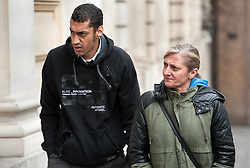 ** CAPTION CORRECTION. PICTURE SHOWS DONOVAN DEMETRIUS, NOT KARL DEMETRIUS*** © Licensed to London News Pictures. 04/08/2015. Bristol, UK.  Defendant Donovan Demetrius (left) arrives for the Plea Hearing in the Becky Watts murder trial at Bristol Crown Court.  Photo credit : Simon Chapman/LNP