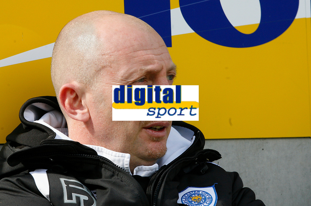 Photo: Steve Bond/Richard Lane Photography. <br />Leicester City v Colchester United. Coca Cola Championship. 12/04/2008. Ian Holloway seated