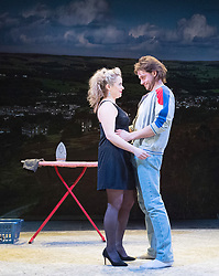 Rita, Sue and Bob Too<br /> By Andrea Dunbar<br /> at The Royal Court Theatre, London, Great Britain <br /> Press photocall <br /> 11Pm h January 2018 <br /> <br /> Directed by Kate Wasserberg <br /> <br /> James Atherton as Bob <br /> <br /> Samantha Robinson as Michelle <br /> <br /> <br /> Photograph by Elliott Franks