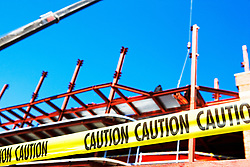 Dec. 13, 2012 - Caution tape at construction site (Credit Image: © Image Source/ZUMAPRESS.com)