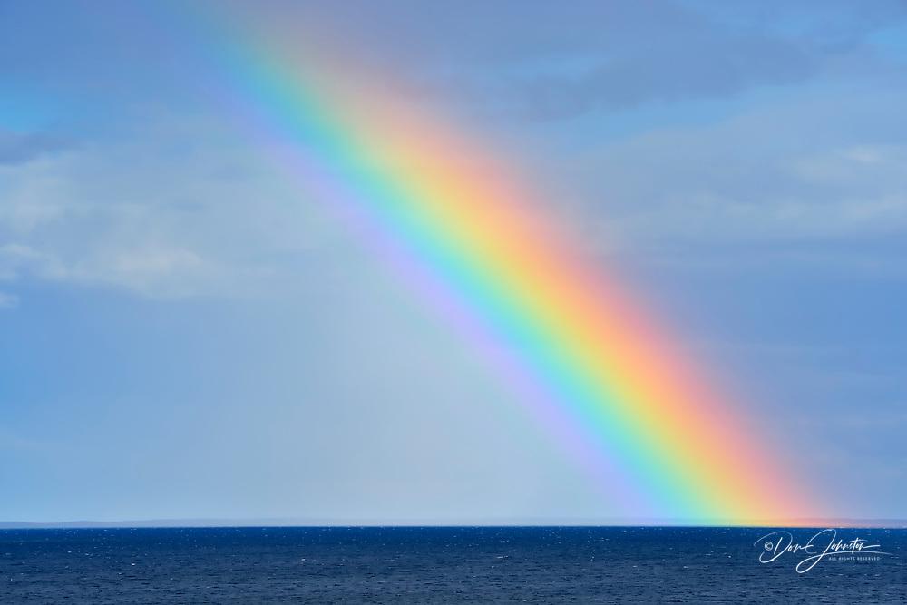 Rainbow over Ennadai Lake, Arctic Haven Lodge, Nunavut, Nunavut, Canada