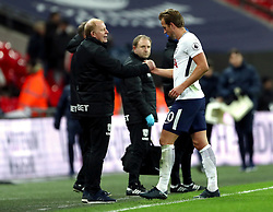 West Bromwich caretaker manager Gary Megson shakes hands with Tottenham Hotspur's Harry Kane at the end of the match