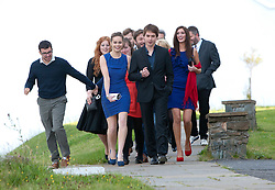 Two stars of The Inbetweeners Movie, Joe Thomas and Simon Bird, at a press photo-call on Skye before a sold-out screening of the new film in the island's Gaelic college. Also apearing were co-stars Jessica Knappet and Lydia Rose Bewley..