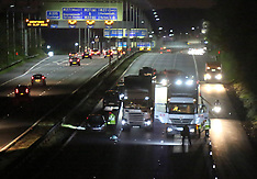 Man Runs Across M3 and is Hit