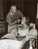 "1954 Arlene Dahl in the make-up chair for her role in ""A Woman's World"""